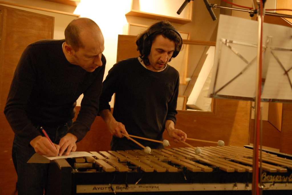 Fabrice et Jacques au vibraphone