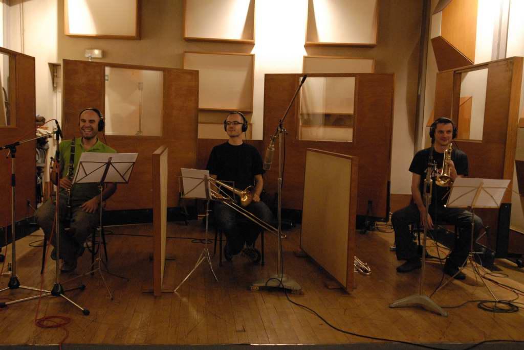 Yomgui' (Clarinette), Mathias (Trombone) et Martin (Trompette)