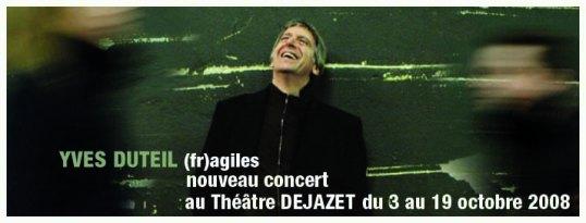Yves Duteil (fr)agiles au Théâtre DEJAZET