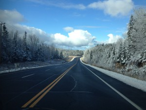 Premiere neige au Quebec