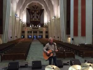 En répétition à l'Oratoire St Joseph (Montréal)