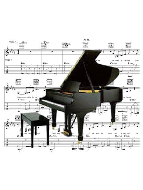 Piano - Partition - Le soleil sur l'agenda