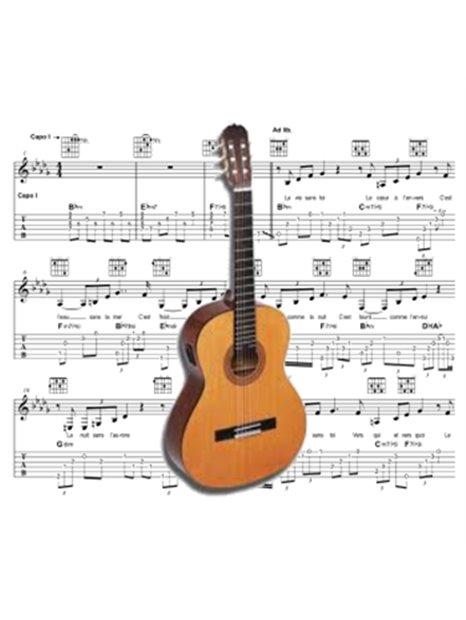 Guitare -  Partition - Et si la clé était ailleurs