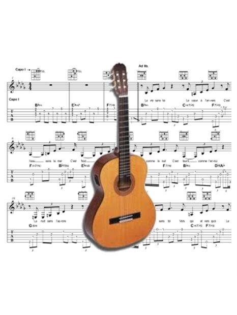 Guitare - Partition - La tendre image du bonheur